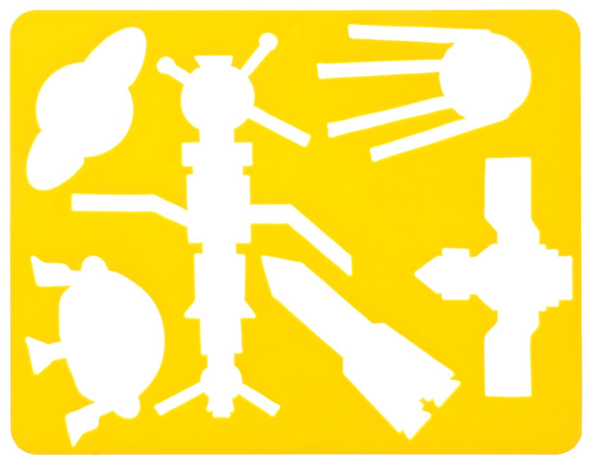 Луч Трафарет прорезной Космос цвет желтый73161_желтыйТрафарет Луч Космос, выполненный из безопасного пластика, предназначен для детского творчества. По трафарету Космос маленькие художники смогут нарисовать спутники, ракету, космическую станцию, летающую тарелку и планету Сатурн. Для этого необходимо положить трафарет на лист бумаги, обвести фигуру по контуру и раскрасить по своему вкусу или глядя на цветную картинку-образец. Трафареты предназначены для развития у детей мелкой моторики и зрительно-двигательной координации, навыков художественной композиции и зрительного восприятия.