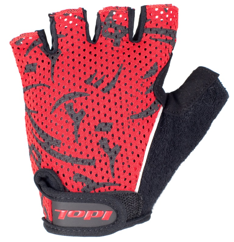 """Перчатки велосипедные """"Idol"""", цвет: черный, красный. 1592. Размер L"""