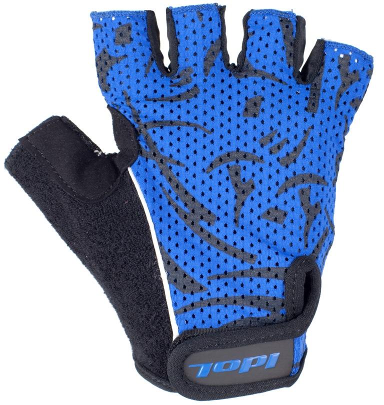 """Перчатки велосипедные """"Idol"""", цвет: черный, синий. 1592. Размер L"""
