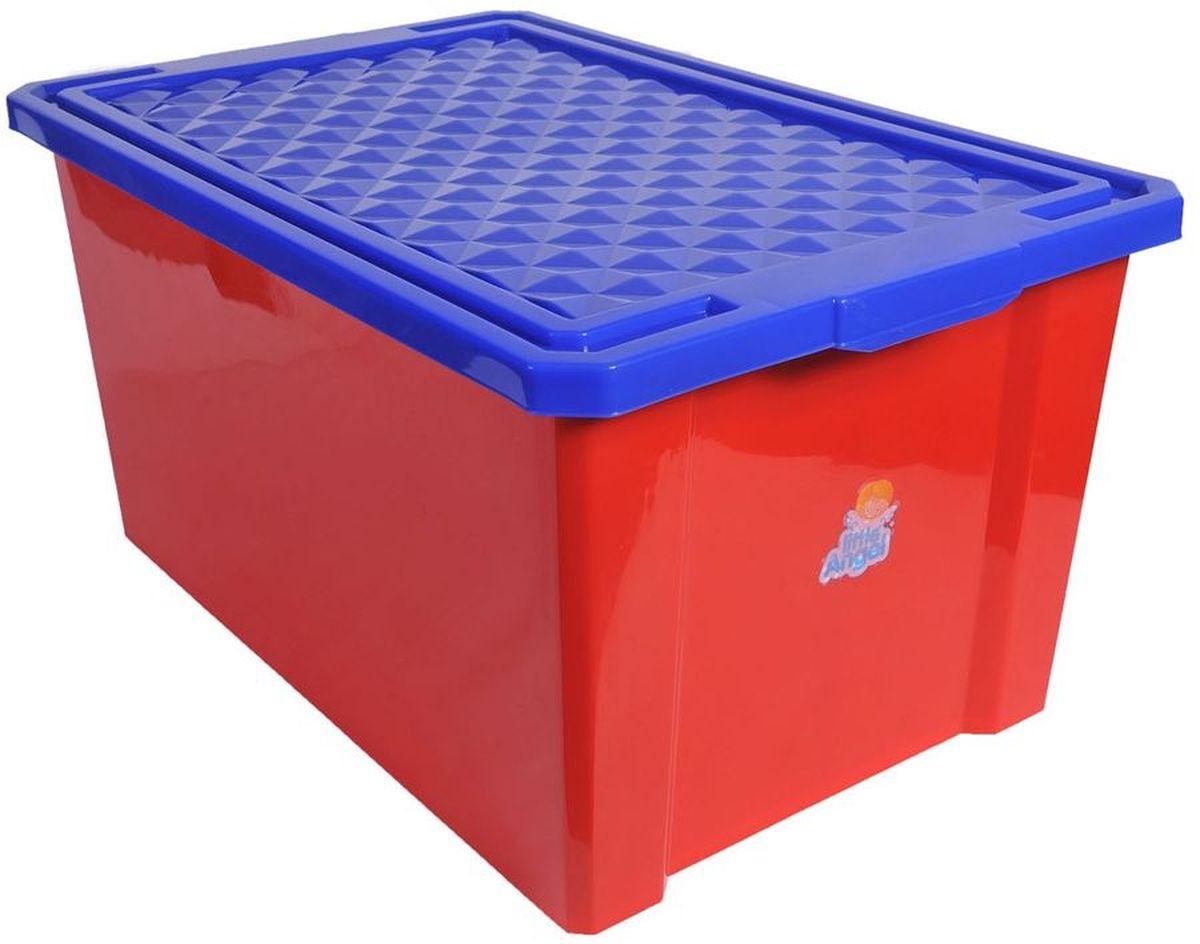 Little Angel Ящик для игрушек на колесах 57 л на цвет красный цена и фото