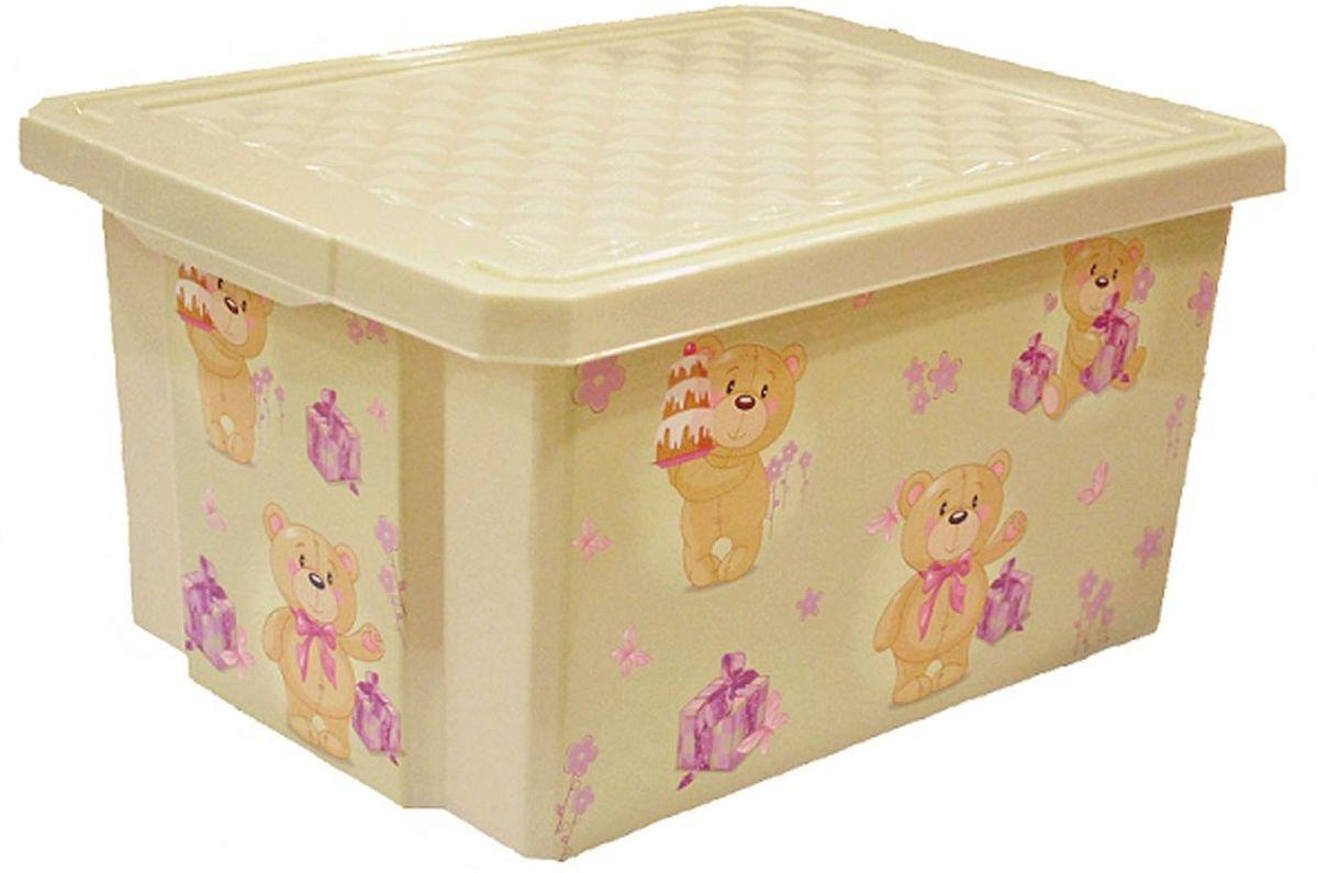 Little Angel Ящик для игрушек X-Box Bears 17 л цвет слоновая кость little angel ящик для игрушек x box сказочная принцесса 17 л