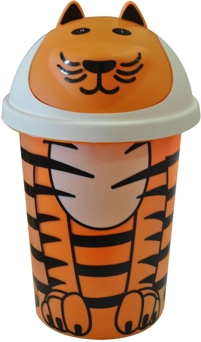 Little Angel Корзина для игрушек Jungle цвет оранжевый цена и фото