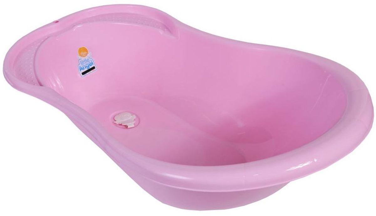 Little Angel Ванна детская Ангел со сливом и термометром цвет розовый ванночка пластик центр ангел 84см детская с термометром голубой la4102глп 1p