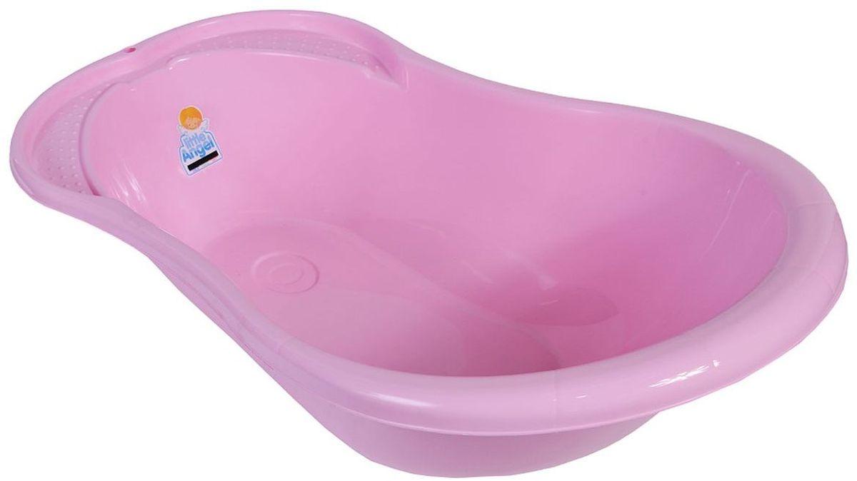 Little Angel Ванна детская Ангел с термометром цвет розовый ванночка пластик центр ангел 84см детская с термометром голубой la4102глп 1p