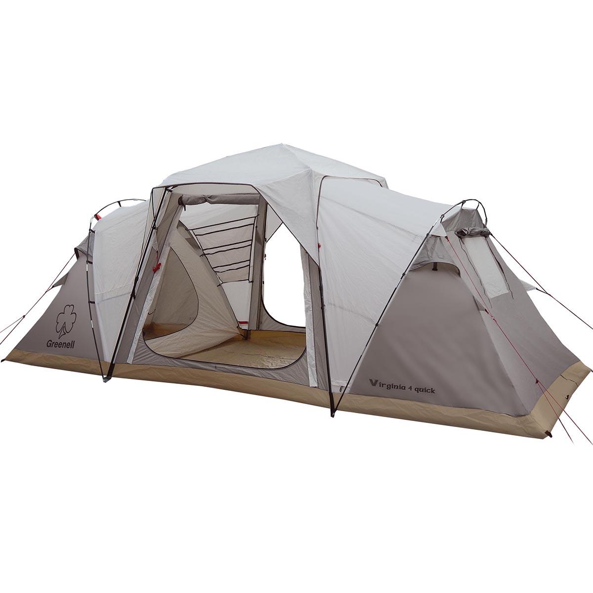 Палатка-автомат Greenell Виржиния 4 квик, цвет: коричневый
