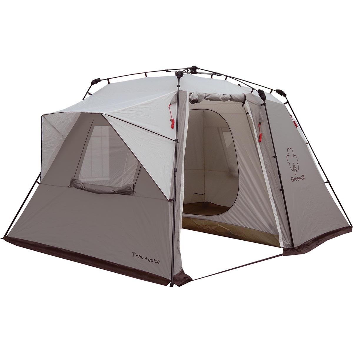 Палатка-автомат Greenell Трим 4 квик, цвет: коричневый палатка greenell виржиния 6 плюс green