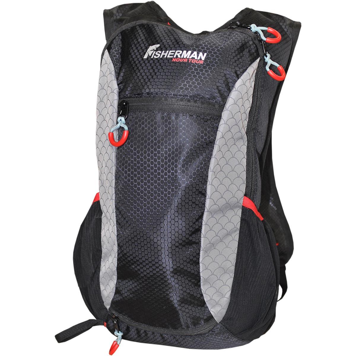 Рюкзак для рыбалки FisherMan Nova Tour Миноу PRO, цвет: черный, серый, 9 л