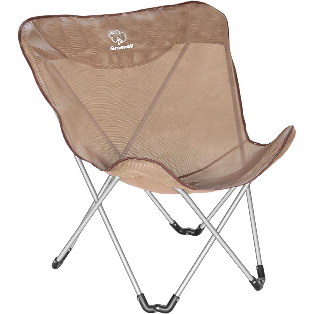 Кресло складное Greenell Баттерфляй FC-14, цвет: коричневый, 120 кг кресло – коляска amrus для инвалидов amrw18p el p
