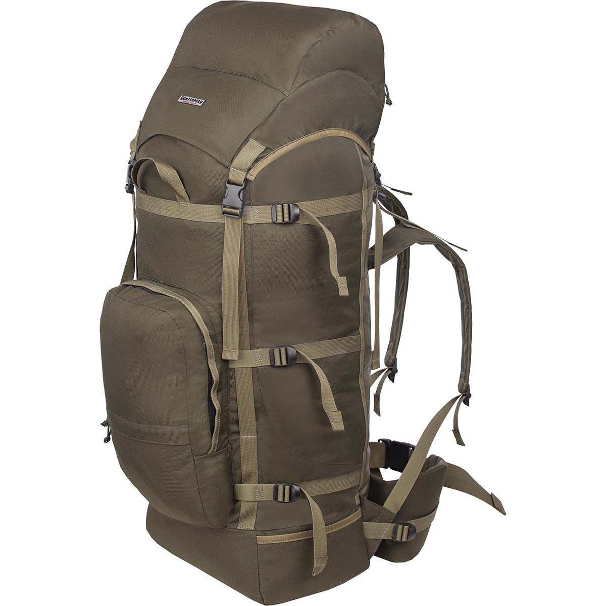 Рюкзак для охоты HunterMan Nova Tour Медведь 100 V3, цвет: зеленый, 100 л