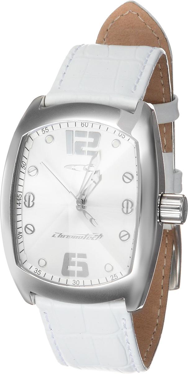 Часы женские наручные Chronotech, цвет: белый, серебристый. RW0009 все цены