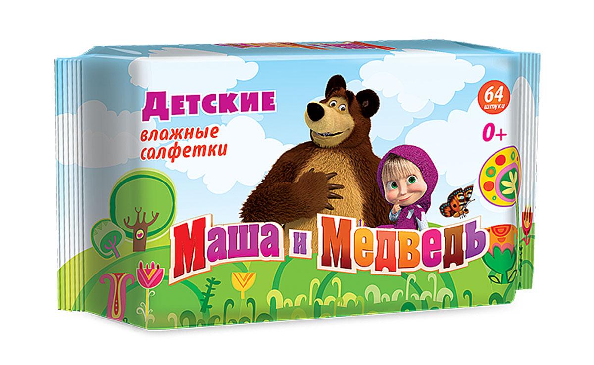 Маша и Медведь Влажные детские салфетки 64 шт