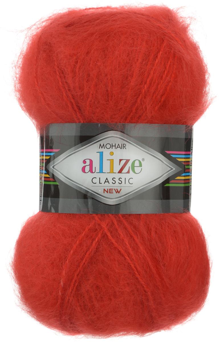 Пряжа для вязания Alize Mohair Classik New, цвет: красный (56), 200 м, 100 г, 5 шт582105_56Классическая мохеровая пряжа Alize Mohair Classik New для ручного вязания, тонкая, мягкая, деликатная нить, хорошо скрученная. Послушная нить, которая отлично подходит для опытных вязальщиц и для начинающих рукодельниц. Легкая и гибкая пряжа с акрилом, придающим готовым вещам практичность. Благодаря пушистому мохеру можно использовать самый простой узор и при этом изделие будет выглядеть великолепно. Высококачественная пряжа, равномерно окрашенная, не линяет. Мягкая, теплая нить прекрасно подходит для взрослой и детской зимней одежды. Пушистость пряжи в изделии без сложных узлов даже с ровной вязкой будет придавать одежде особый шарм. Состав: 25% мохер, 24% шерсть, 51% акрил. Рекомендованные спицы № 5-7, крючок № 2-4.