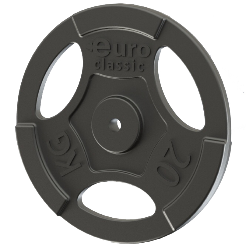 Диск чугунный Euro-Classic, 20 кг, посадочный диаметр 26 мм цена
