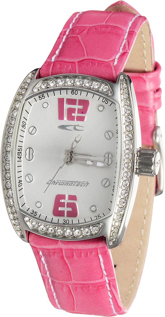 Часы женские наручные Chronotech, цвет: розовый, серебристый. RW0005 все цены