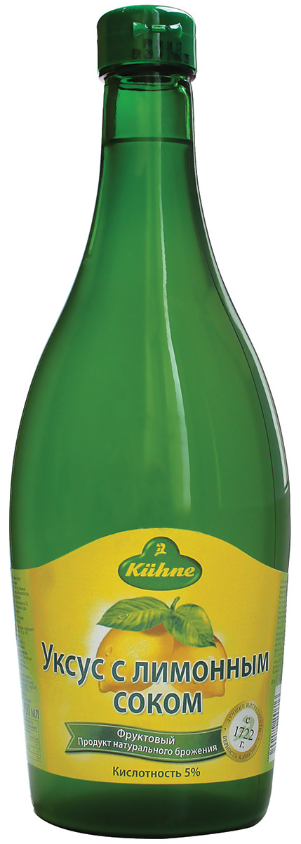 цены Kuhne Vinegar Lemon уксус 5% с лимонным соком, 750 мл