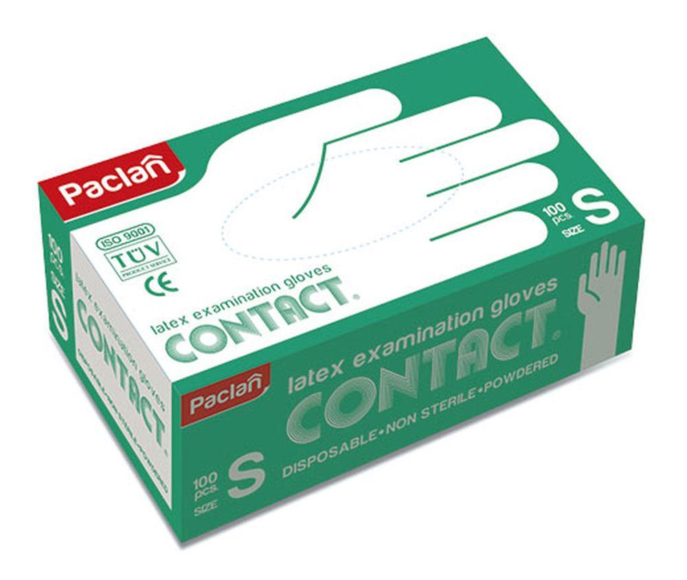 Перчатки латексные Paclan Contact, 100 шт. Размер S перчатки латексные paclan contact 100 шт размер l