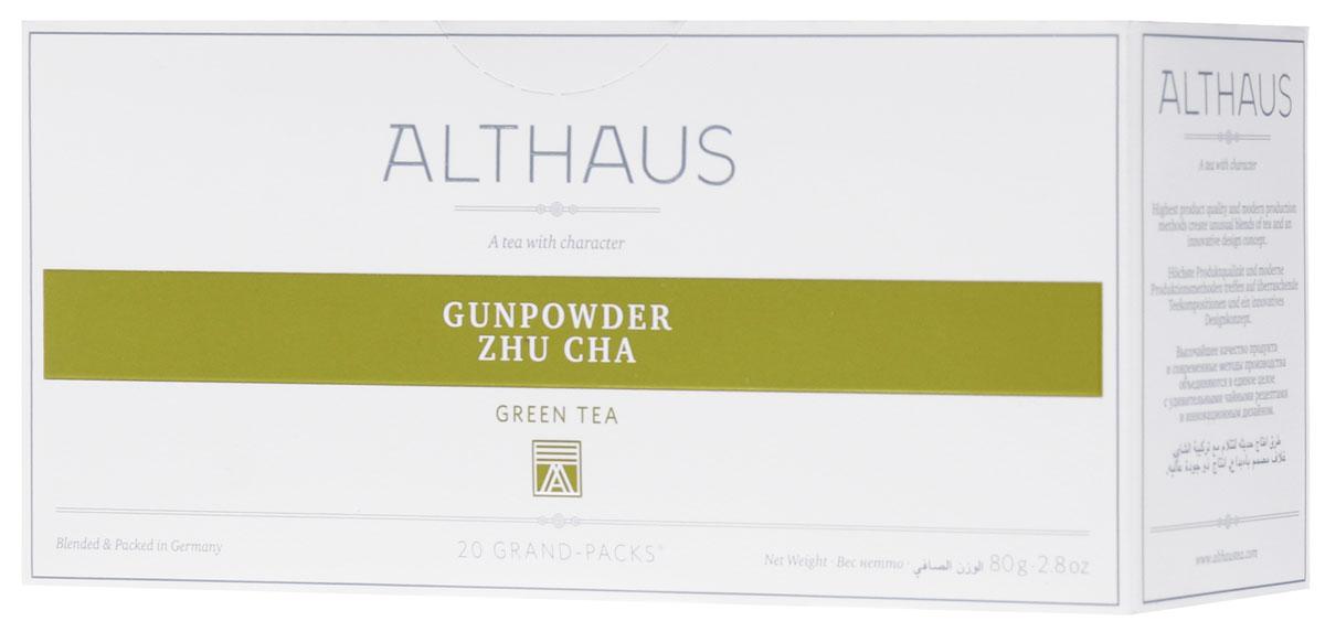 Althaus Grand Pack Gunpowder Zhu Cha зеленый чай в пакетиках, 20 шт нож овощной legioner germanica line 47831 l z01