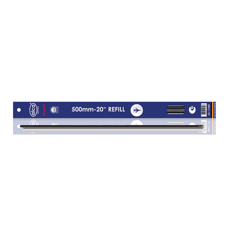 Резинка для щеток Alca, профиль БОШ, 50 см, 2 шт инструмент бош
