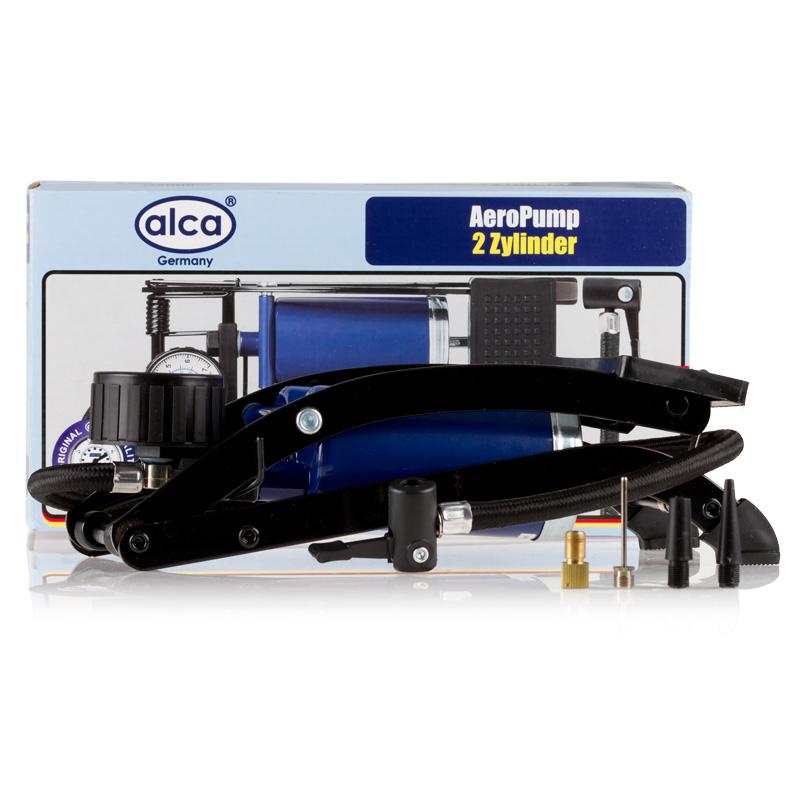 Насос автомобильный Alca, ножной, 2-цилиндровый. 202000 цена