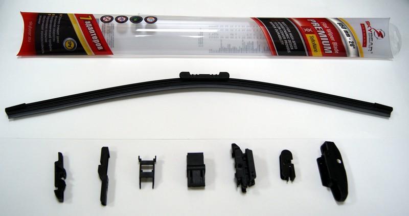 Щетка стеклоочистителя Skybear Premium, бескаркасная, 65 см, 1 шт щетка стеклоочистителя zipower бескаркасная 55 см 1 шт