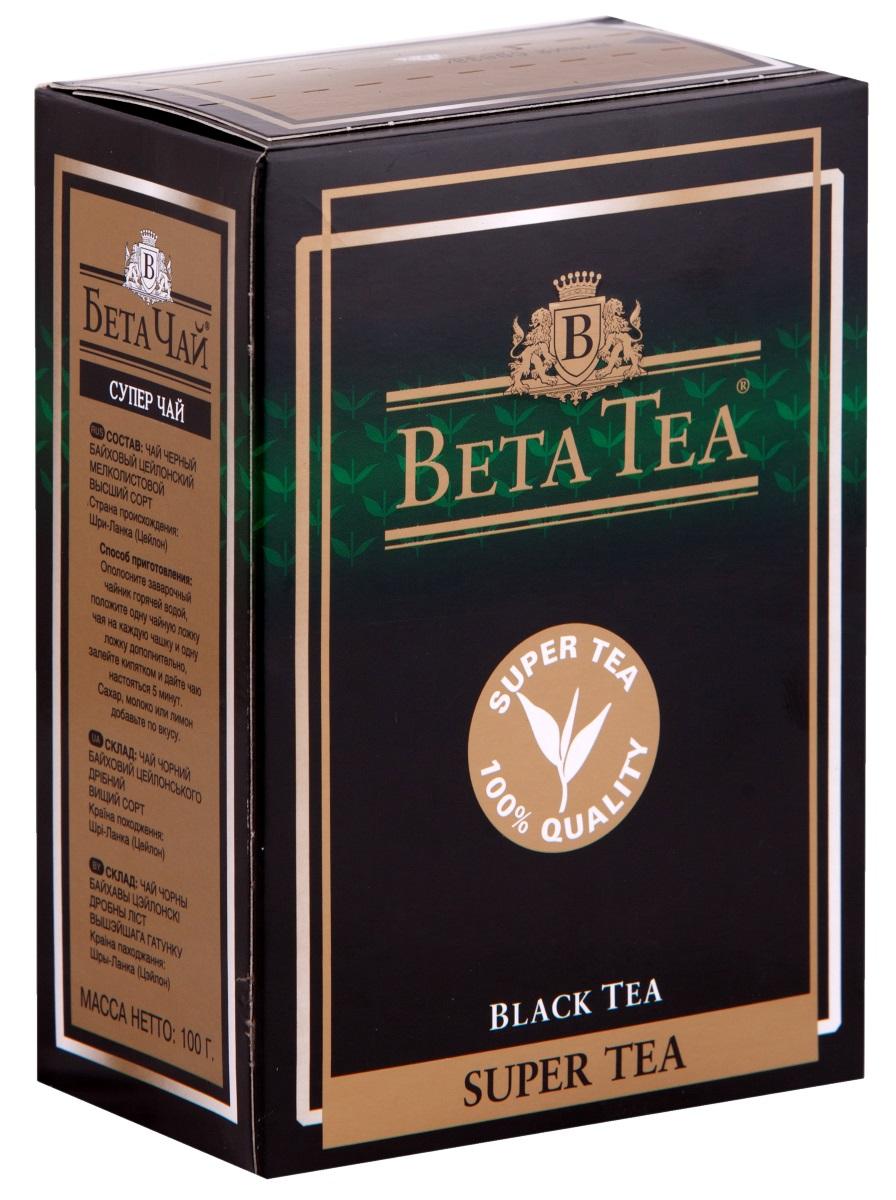 Beta Tea Super Tea черный листовой чай, 100 г цены