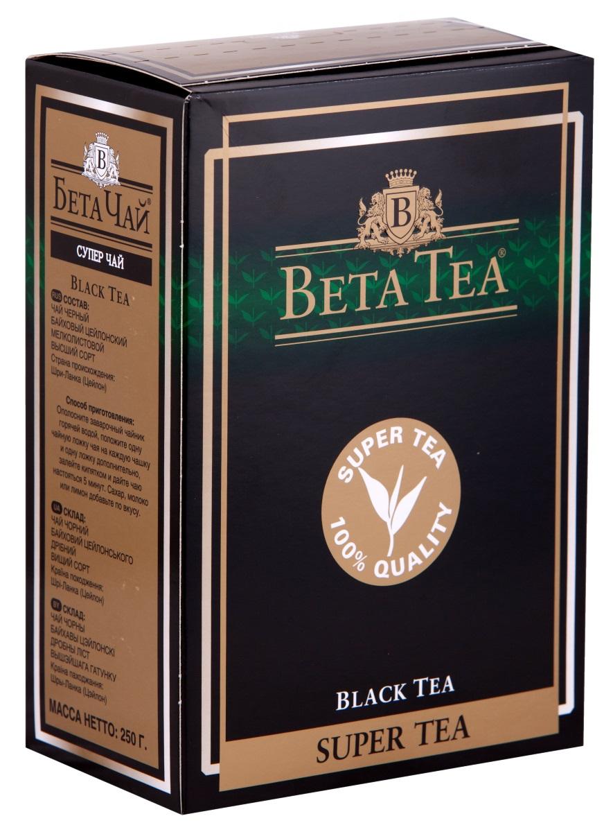 Черный листовой чай Beta Tea Super Tea, с бергамотом, 250 г цены