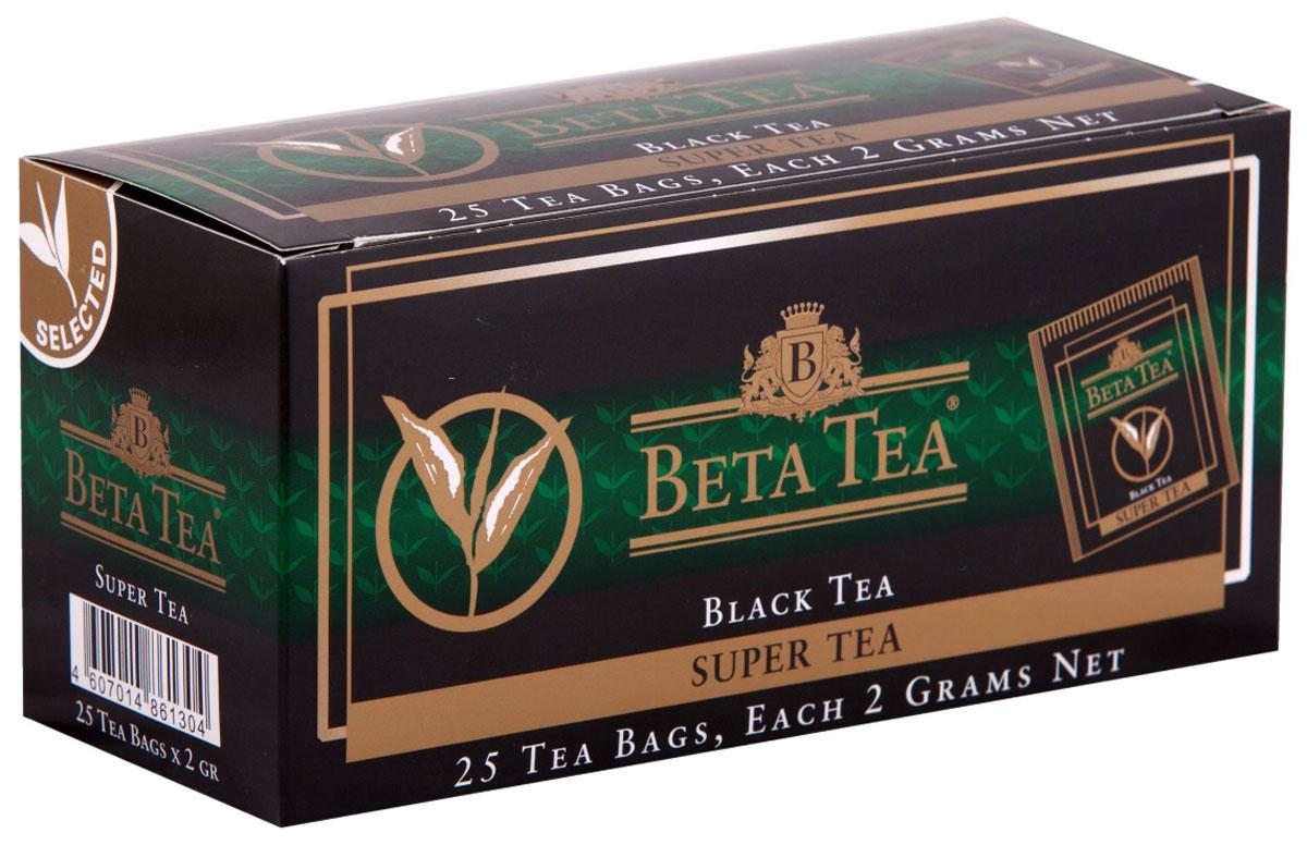 Beta Tea Super Tea черный чай в пакетиках, 25 шт цены