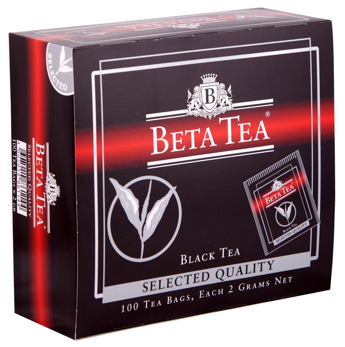 Beta Tea Отборное качество черный чай в пакетиках, 100 шт beta tea отборное качество черный листовой чай 100 г