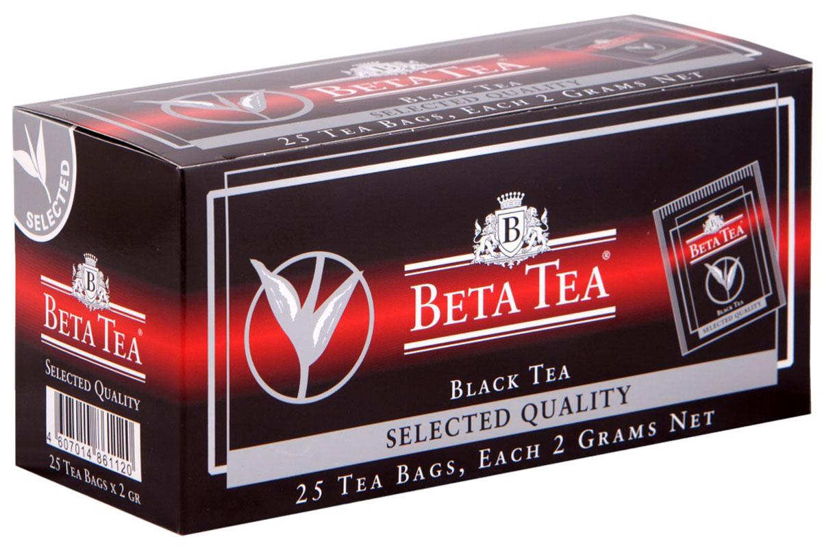 Beta Tea Отборное качество черный чай в пакетиках, 25 шт beta tea отборное качество черный листовой чай 100 г