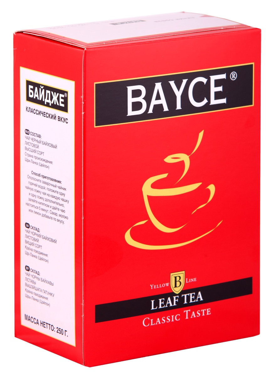 Bayce Классический вкус черный чай, 250 г8690717005249Bayce Классический вкус - превосходный классический чай, собранный на чайных плантациях острова Цейлон. Приятный вкус и целебные свойства делают этот сорт особенно привлекательным.