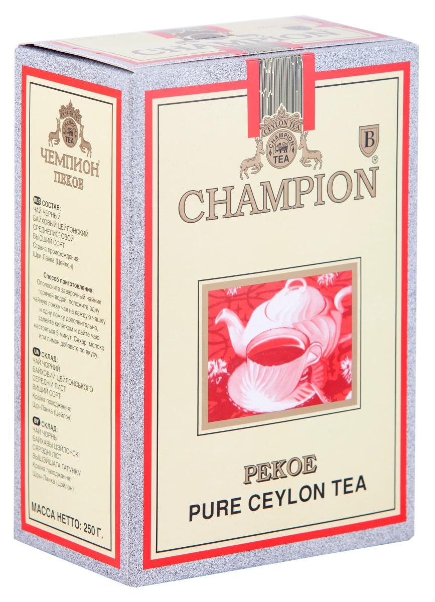 Чай черный байховый цейлонский листовой Чемпион Пекое 250г принцесса нури пекое черный чай листовой 250 г