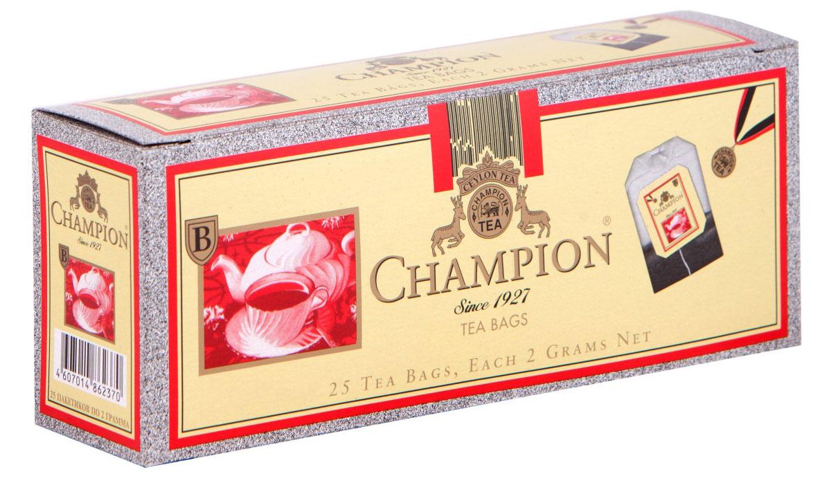 Champion черный листовой чай в пакетиках, 25 шт champion черный листовой чай в пакетиках 25 шт