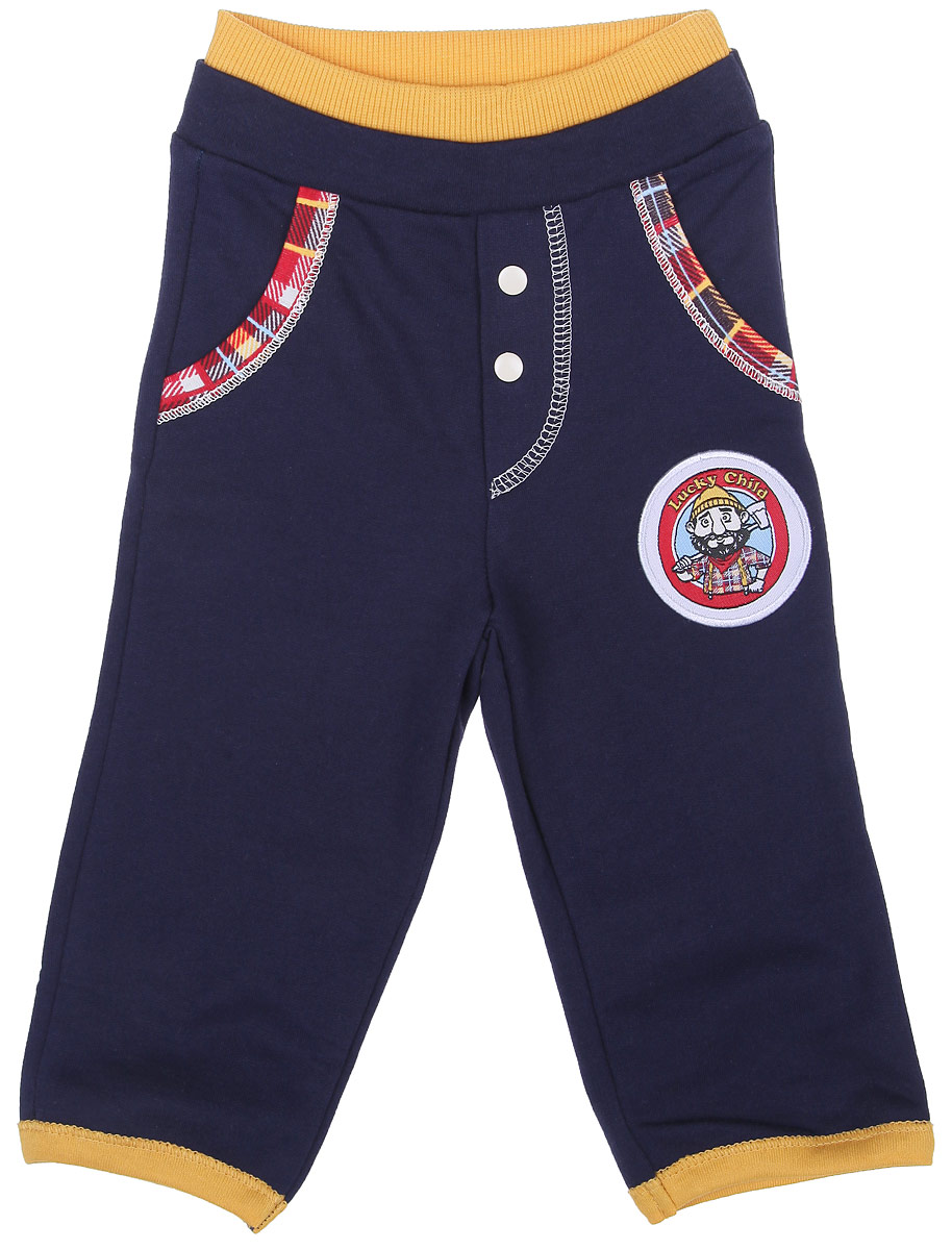 Брюки Lucky Child штанишки на широком поясе lucky child цвет мультицвет 10 11 легкие размер 86 92
