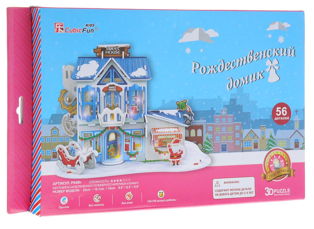 все цены на CubicFun 3D Пазл Рождественский домик 2 с подсветкой онлайн