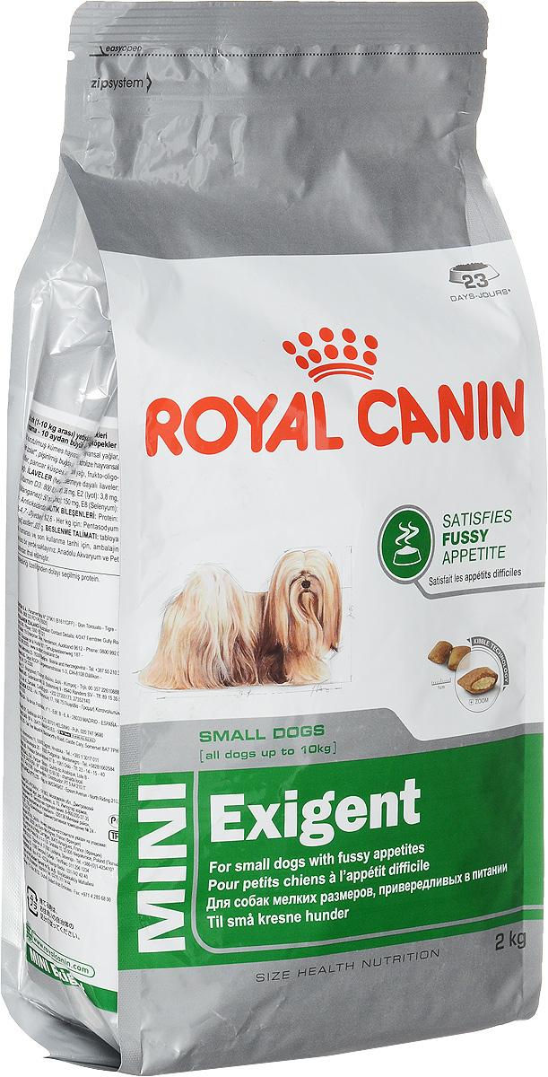 """Корм сухой Royal Canin """"Mini Exigent"""", для собак мелких пород, привередливых в питании, 2 кг"""