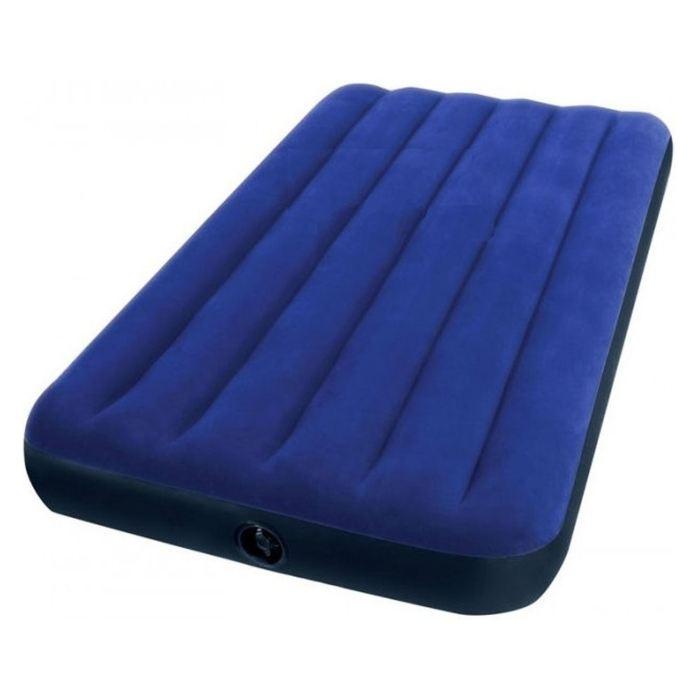 Матрас надувной Intex Classic Downy Twin 99х191х22 см, цвет: синий. 68757