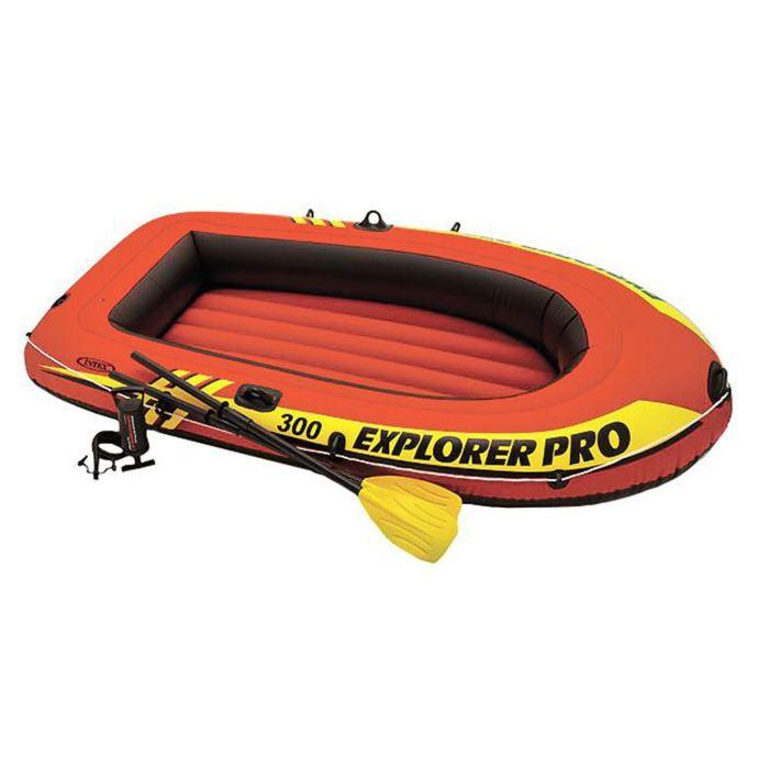 Лодка надувная Intex Explorer, цвет: оранжевый. 58358NP цена