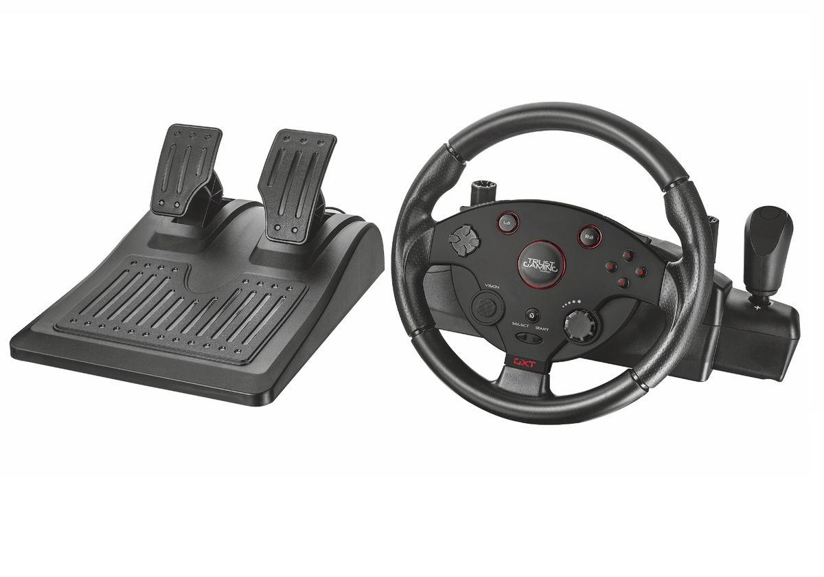 Trust GXT 288 Racing Wheel игровой руль игры для приставки руль с педалями скачать бесплатно