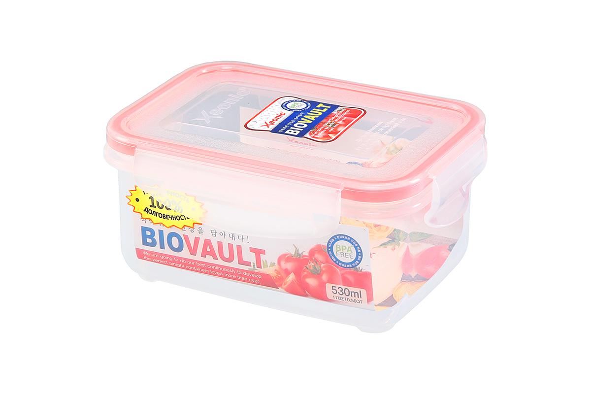 Контейнер пищевой Xeonic, прямоугольный, цвет: прозрачный, красный, 530 мл. 810085 available from 10 11 container food rectangular xeonic 530 ml xeonic 810029