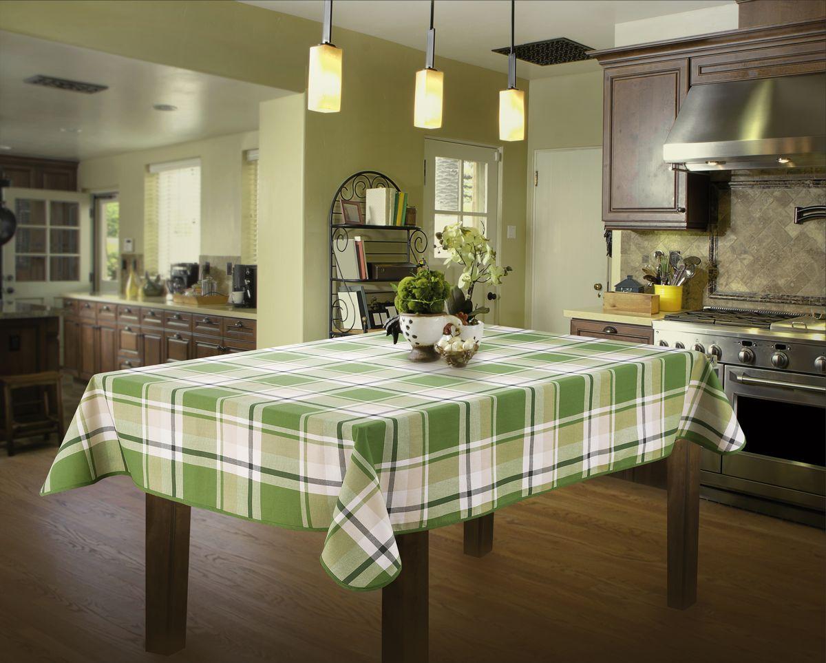 """Скатерть """"Wisan"""", прямоугольная, цвет: зеленый, 130 х 160 см"""
