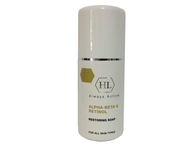 Holy LandВосстанавливающее мыло с ретинолом Alpha-Beta& Retinol Restoring Soap, 125мл Holy Land