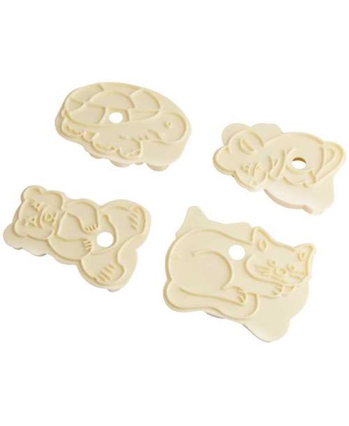 Формочка для печенья Zenker, цвет: бежевый, 4 шт формочки для печенья zenker