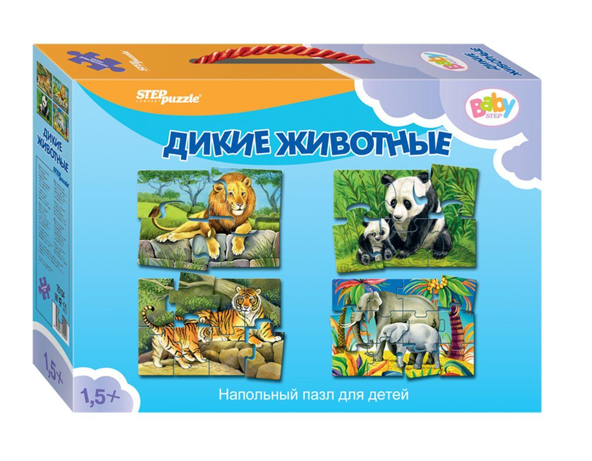 Step Puzzle Пазл для малышей Дикие животные 4 в 1