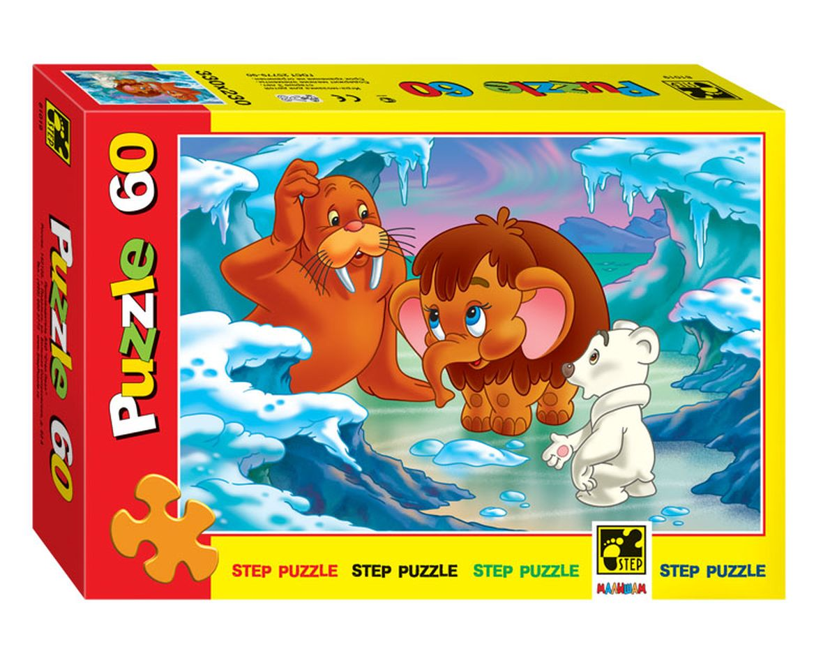 Step Puzzle Пазл для малышей Мамонтенок step puzzle пазл для малышей тачки 89122