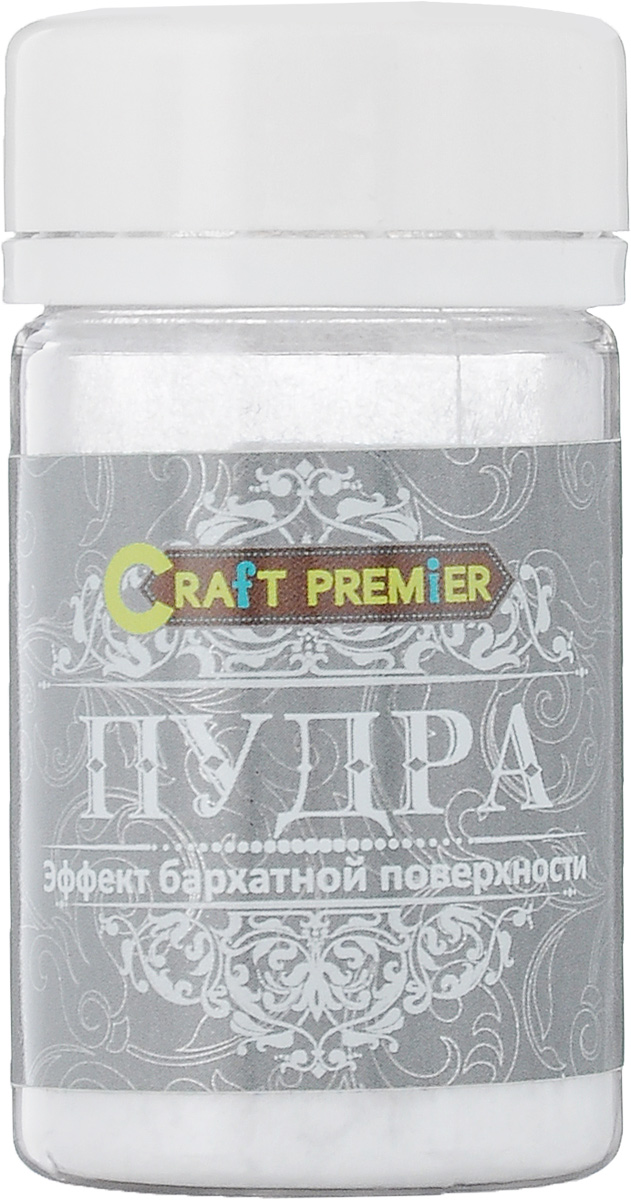 Пудра Craft Premier Эффект бархатной поверхности, цвет: белый, 50 мл цена