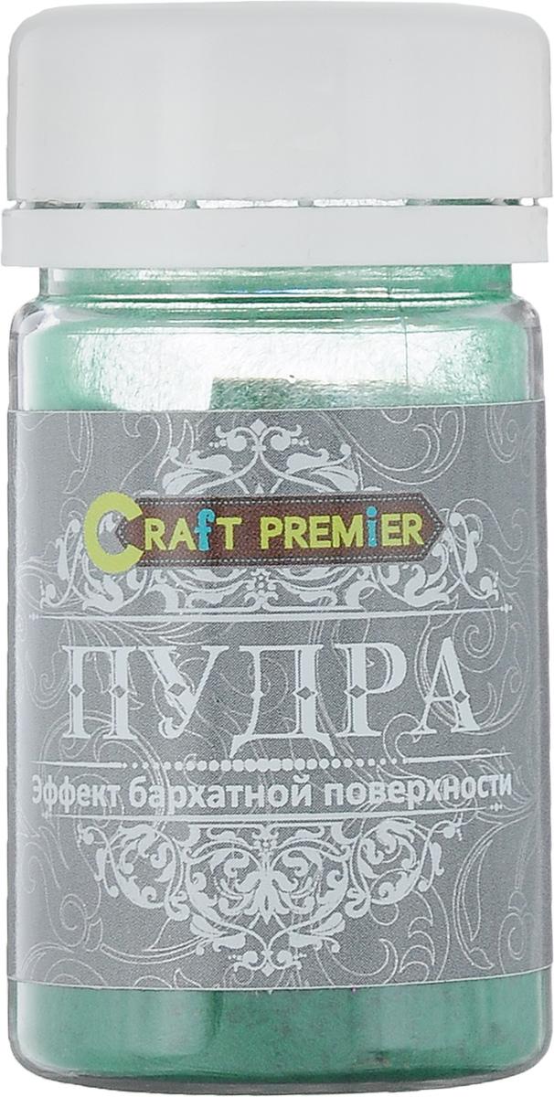Пудра Craft Premier Эффект бархатной поверхности, цвет: зеленый, 50 мл цена