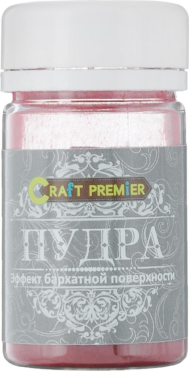 """Пудра Craft Premier """"Эффект бархатной поверхности"""", цвет: бордовый, 50 мл"""