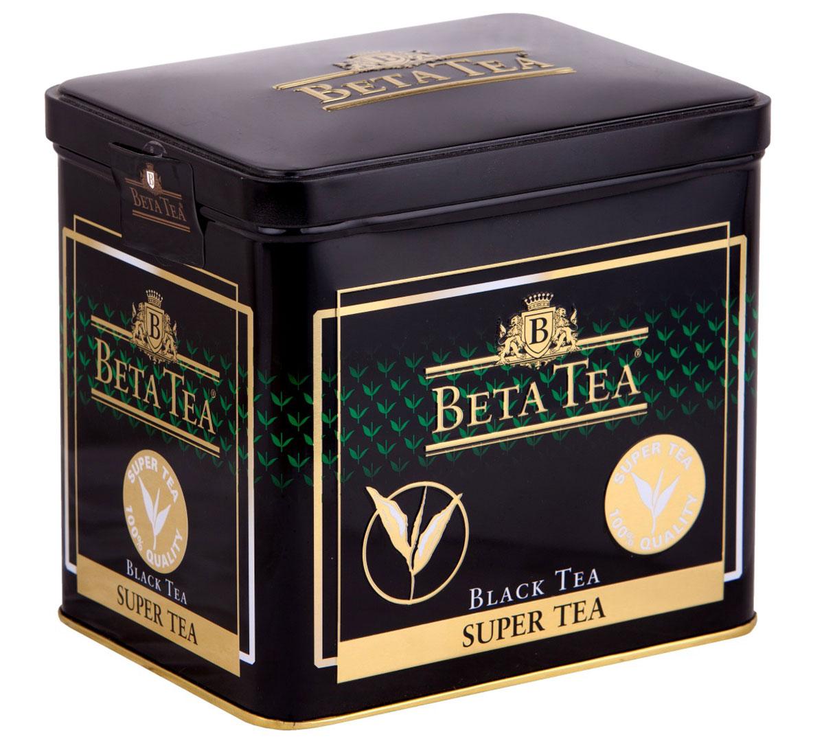 Beta Tea Super Tea черный листовой чай с бергамотом, 100 г цены