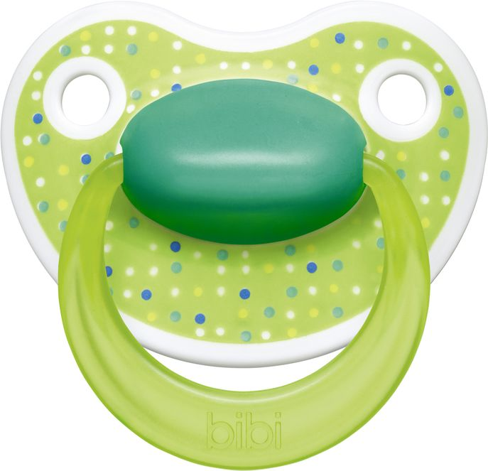 Bibi Пустышка силиконовая Premium Dental от 0 до 6 месяцев цвет зеленый