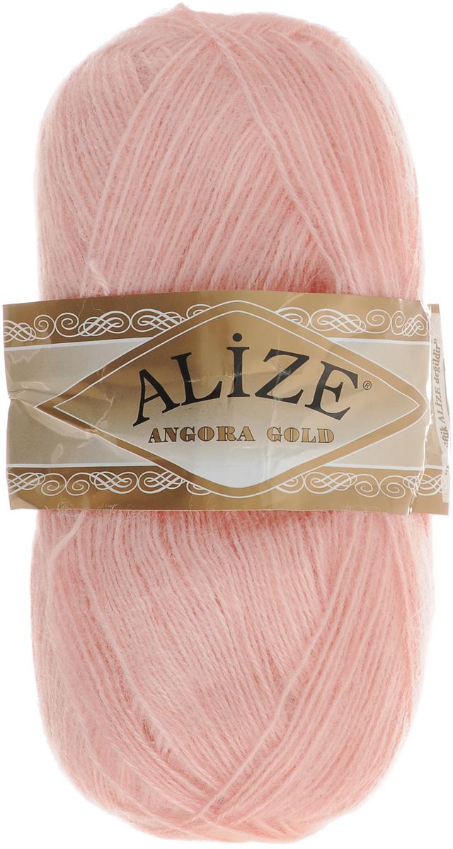 """Пряжа для вязания Alize """"Angora Gold"""", цвет: нежно-розовый (363), 550 м, 100 г, 5 шт"""